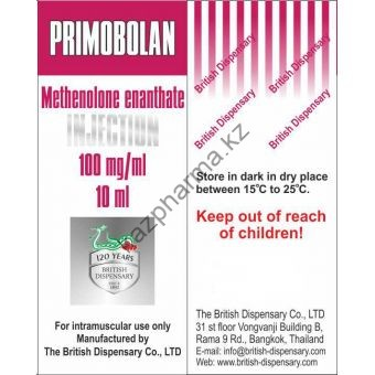 Primobolan (Метенолон, Примоболан) British Dispensary балон 10 мл (100 мг/1 мл) - Алматы